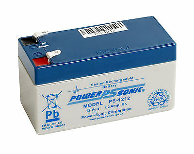 POWERSONIC PS-1212 12V 1.2AH Sealed Lead Acid SLA Rechargeable Battery