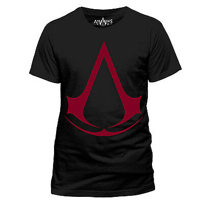 ASSASSINS'S CREED Red LOGO OFFICIAL Video Game Cotton T-SHIRT UNISEX Syndicate