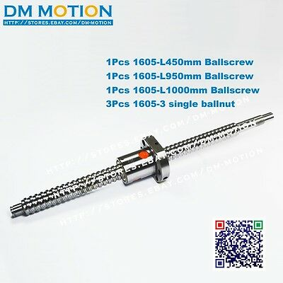 1605 Ballscrew L440mm-C7 Anti Backlash Ballscrew with single ballnut for CNC