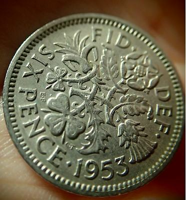 "1953 UK Wedding Sixpence - ""Something Old Something New"""