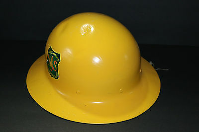 *RARE* OLD U.S. Forest Service Department of Agriculture metal hard hat SUPERB