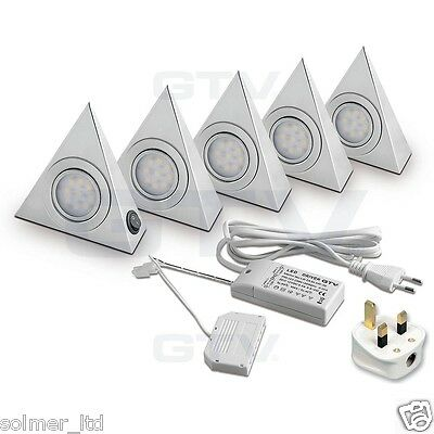 LED Triangle Brushed Kitchen Under Cabinet Light Set/Kit GTV