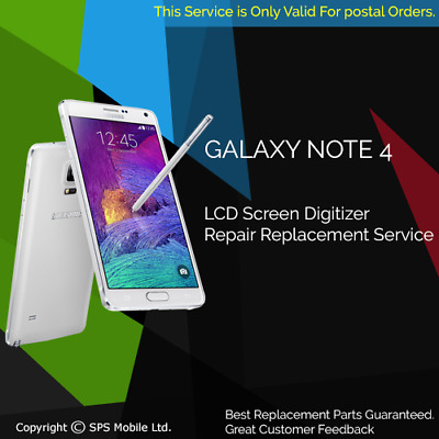 Samsung Galaxy Note 4 Screen Replacement Cracked Front Glass Repair Service