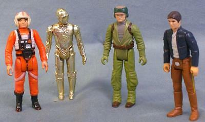Great group of four original Star Wars action figures! Vintage! Han Solo! C3P0!