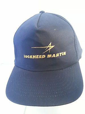 Lockheed Martin Dark Blue Cap with Yellow Letters and Logo