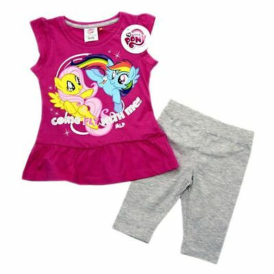My little Pony Set, Leggings+Tunika, pink-grau, Gr. 104+128