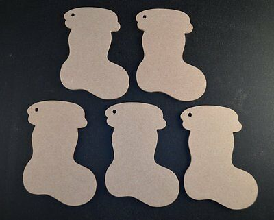 Wooden Mdf Christmas Stockings Craft Shapes 3Mm Thick Gift Tags/embellishments