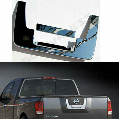 Rear Door Tailgate Handle Covers Triple Chrome Plated for 04-13 Nissan Titan
