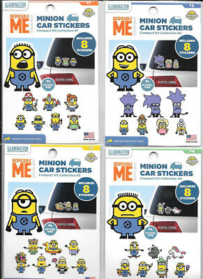 Despicable Me 34 Minion Peel Off Car Stickers Value Pack Collections #1-3 SEALED