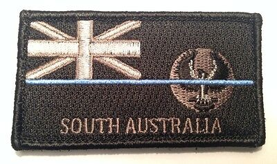 SA Thin Blue Line, Police Patch, State Flag, Law Enforcement, Hook Rear, TBL