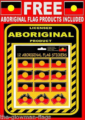 Aboriginal flag Indigenous flag NAIDOC 12 sticker graphics + FREE gift