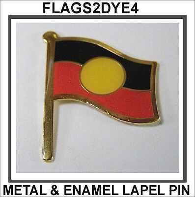 Aboriginal flag lapel pin badge INCLUDES AUSTRALIA POST TRACKING