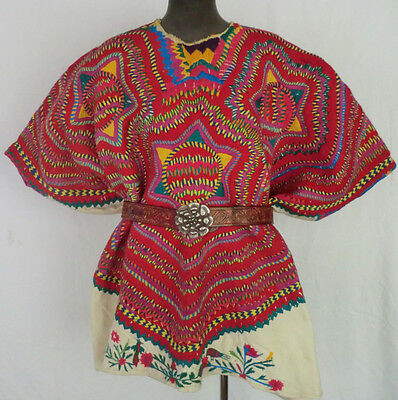 Extremely Rare Huipil from San Mateo Ixtatán - Double-Layer Cotton