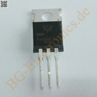 2 x BT138-600 Triac Sensitive Gate 800V 12A  BT138-600E NXP TO-220 2pcs