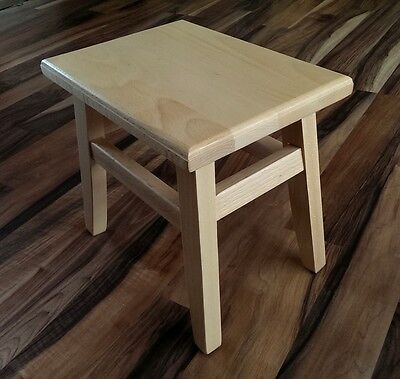 Solid Beech Wooden Step Stool
