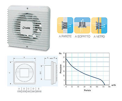 OERRE IN 12//5AT ASPIRATORE ULTRAPIATTO C//TEANDINA//TIMER ESTR VENTILATOR AREATORE