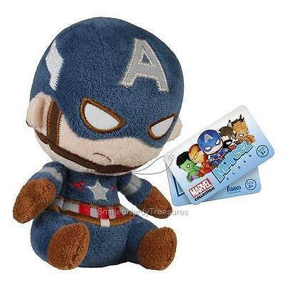 "MARVEL Heroes Avengers MOPEEZ Licensed 4.5"" CAPTAIN AMERICA Kawaii Plush Toy"