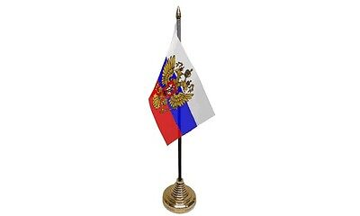 Pack Of Russia Russian Eagle Presidential Desktop Display Table Flags Flag