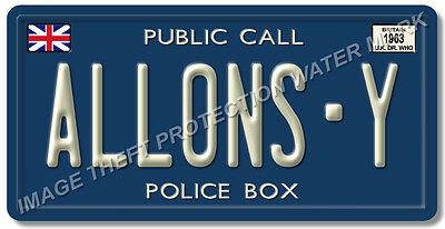 Doctor Who Allons Y Tardis Auto Aluminum License Plate Tag Gift Car Pickup Truck