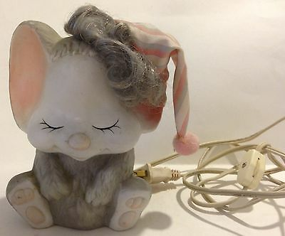Adorable Bisque Porcelain Baby Mouse Nursery Night Light