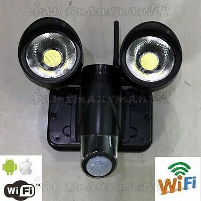 Solar LED Light with Wireless IP Camera WIFI CCTV Surveillance Security System