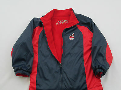 Cleveland Indians coat Jacket Nike Reversible front  zip youth small   #7 Wahoo