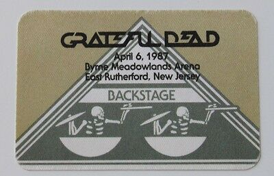 Grateful Dead Backstage Pass 4-6-87 Meadowlands Arena New Jersey