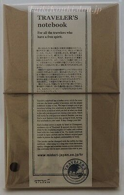 NEW Midori Traveler's Notebook Brown Leather Cover 13715006 Free Shpping