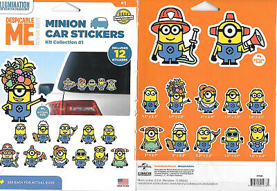 Despicable Me Hula Minion Figure Peel Off Car Sticker Decal NEW UNUSED