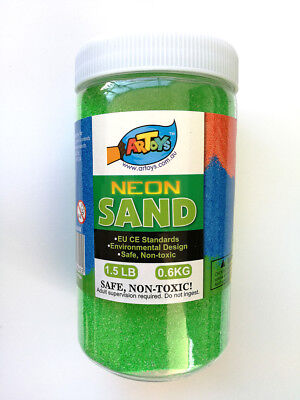 Forest Green Art Sand 600g Bottle Great for School & Home & Party Craft Sand Art
