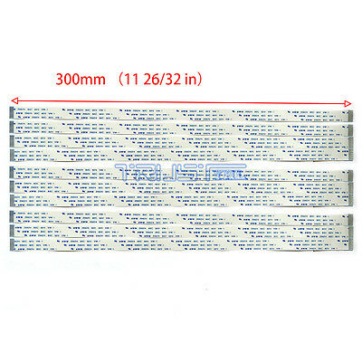 10 pcs Flexible Flat Cable 20 Pin 0.5mm Pitch 300mm FFC AWM 20624 80C 60V VW-1