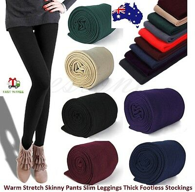 Women Winter Warm Stretch Skinny Pants Slim Leggings Thick Footless Stockings