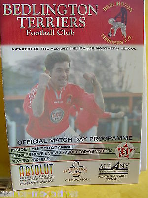 Football Programme Bedlington Terriers V Morpeth Town 29Th March 2001