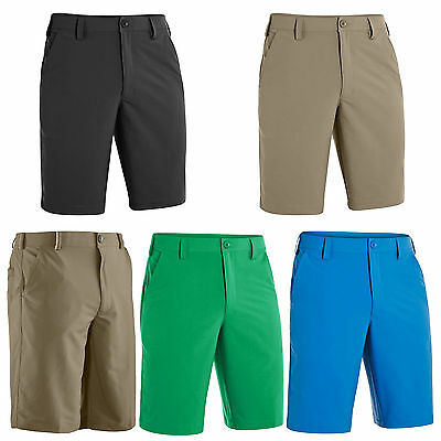 Under Armour Mens Heatgear Bent Grass 2.0 Shorts - New Golf Tech Flat Front