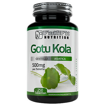 Gotu Kola 250 Tabletten je 500mg Fat2Fit Nutrition Wassernabel