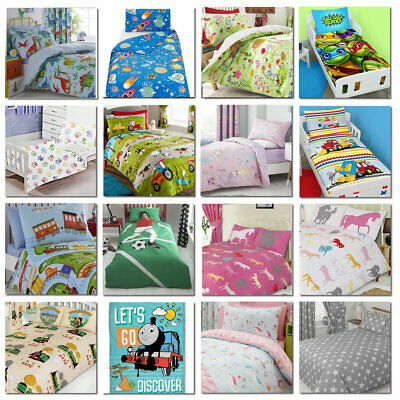 Girls and Boys Bedding Sets Toddler Junior Duvet Cover and Pillowcase