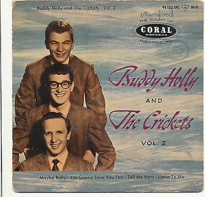"""7"""" - Buddy Holly And The Crickets - VOL.2 - Coral 94130 EPC - DE 1959"""