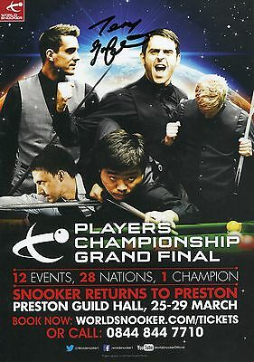 Snooker Players Championship Grand Final Flyer. Signed by Terry Griffiths.