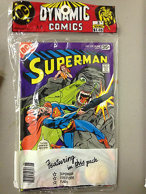 DC PolyBagged 3 Pack from the 1970's, Superman #324, Flash #262, Firestorm #3