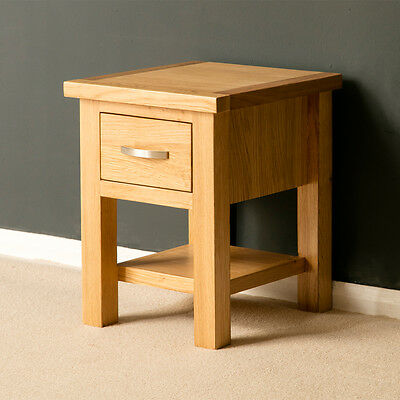 London Oak Side Table / Light Oak Lamp Table / Solid Wood Table / Brand New