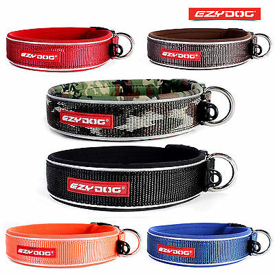 EZYDOG NEOPRENE DOG COLLARS High Quality Classic Non Rot/Non Smell - FREE UK P&P