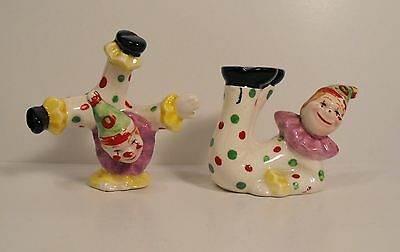 Vintage Japanese  Acrobat Circus Clown Figurines Salt & Pepper Shaker Set  Japan