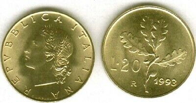 Italy 1993 20 Lire Uncirculated (KM97.2)