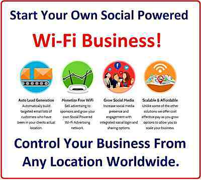 Public Wi-Fi Business. Start Your Own Social Powered White Label Wi-Fi Business!