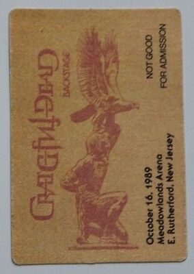 Grateful Dead Backstage Pass 10-16-89 Meadowlands Arena New Jersey
