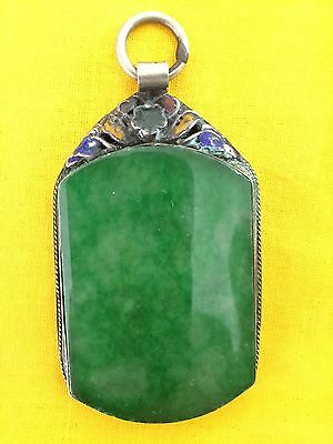 Green Jade Pendant Chinese Antique