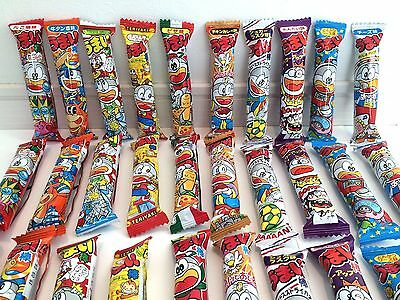 "Japanese dagashi corn puffed snack bar ""Umaibo"" 30pcs 10 flavor assortment Japan"