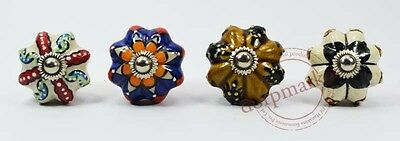 16 Pcs Yellow,White & Mix Color Kitchen/dress Ceramic Knobs Cupboard drawer Pull