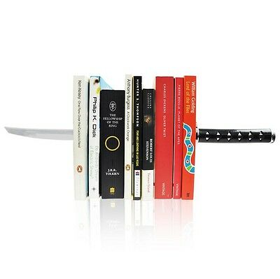 Novelty Katana Bookends - Magnetic Ninja Sword Decorative Bookshelf Ornaments