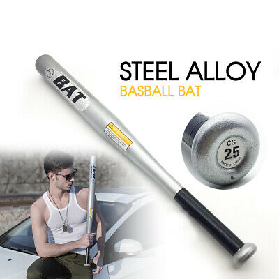 "25"" 63cm Steel alloy Silver Baseball Bat Racket Softball Outdoor Sports"